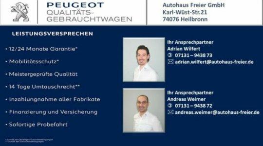 PEUGEOT Qualitäts-gebrauchtwagen Adrian Wilfert und Andreas Weimer